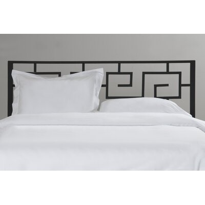 Greek Key Open-Frame Headboard Size: Twin