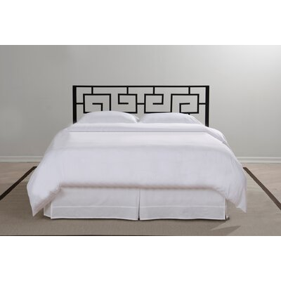 Greek Key Open-Frame Headboard Size: King