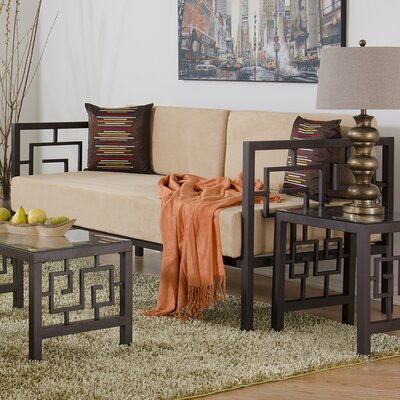 Greek Key Daybed Size: Twin, Color: Bronze