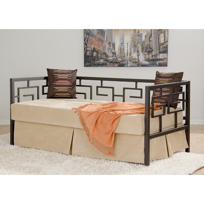 Greek Key Daybed Finish: Deep Bronze, Size: Sofa Depth