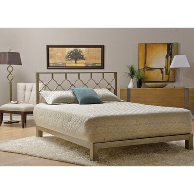 Weyer Platform Bed Size: King, Color: Gold