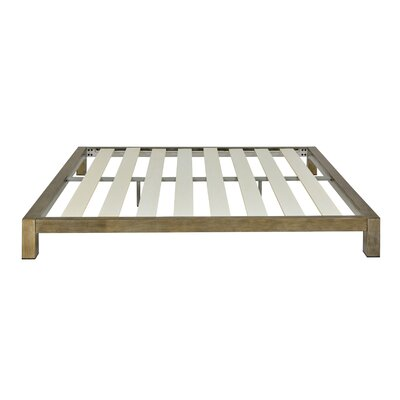 Szumowski Metal Platform Bed Frame Size: King