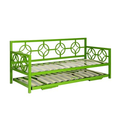 Millerton Trundle Finish: Green, Size: Twin