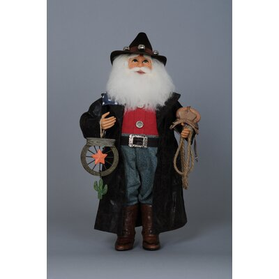 Christmas Cowboy Santa Figurine CC16-61