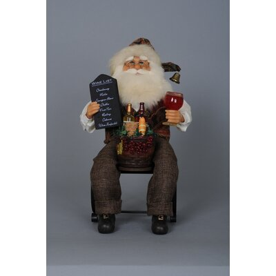 Christmas Santa Tabletop Wine Bottle Holder