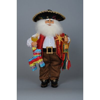 Christmas Fiesta Santa Figurine CC16-50