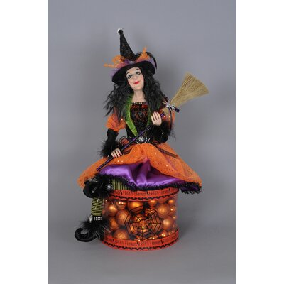 Spooktacular Halloween Lighted Glow Witch Figurine