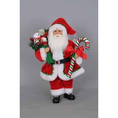 Christmas Candy Cane Santa Figurine CC16-134
