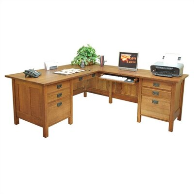 Craftsman Home Office 72 W Computer L-Computer Desk with Return Orientation: Right Product Image 6583