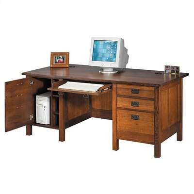 Craftsman Home Office 72 W Computer Modesty Computer Desk Product Picture 18