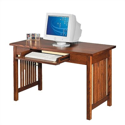 Craftsman Home Office 50 W Single Drawer Library Computer Desk Product Picture 18