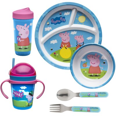 Peppa Pig Snack and Mealtime 6 Piece Place Setting Set PEPB-6360