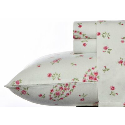 Bristol Flannel Sheet Set by Laura Ashley Home Size: Queen
