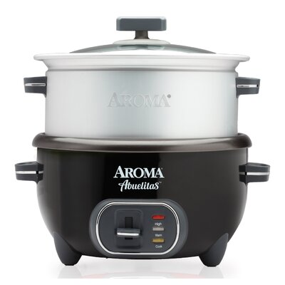 20-Cup Abuelitas Specialty Rice Cooker/Food Steamer Color: Black 021241510219