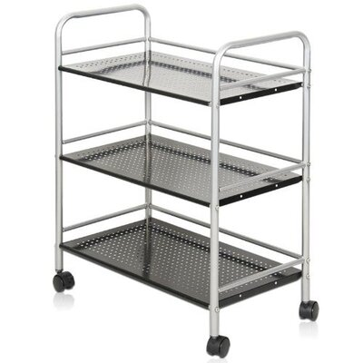 "FURINNO Xiannan Metal 3-Tray Rolling Cart - Size: 29.53"" H x 23.6"" W x 12.6"" D at Sears.com"