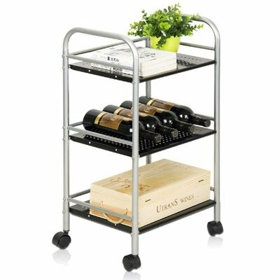 "FURINNO Xiannan Metal 3-Tray Rolling Cart - Size: 29.6"" H x 15.75"" W x 12.6"" D at Sears.com"
