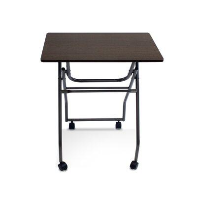 Folding Multipurpose Personal TV Tray Table Finish: Dark Brown/Grey