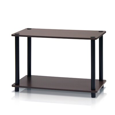 Turn n Tube 2 Tier Storage Shelving Unit Finish: Dark Brown/Black