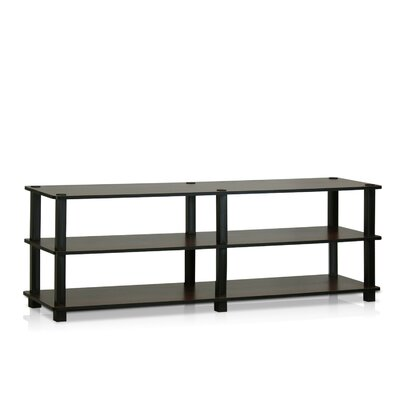Furinno Turn-S-Tube TV Stand Finish: Dark Brown / Black