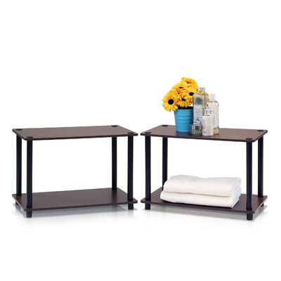 Turn n Tube 2 Tier Shelves/End Table Color: Dark Brown