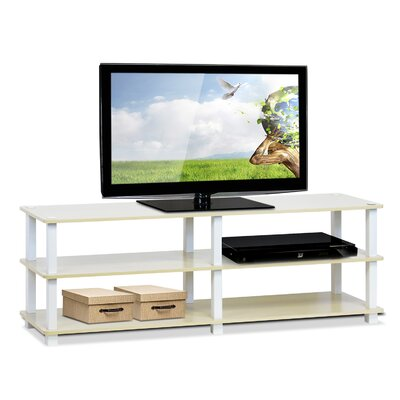 Furinno Turn-S-Tube TV Stand Finish: Steam Beech / White