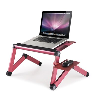 Barga 21.9 H x 27.5 W Standing Desk Conversion Unit Color: Pink