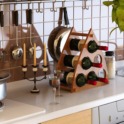 Pyramid 6 Bottle Tabletop Wine Rack