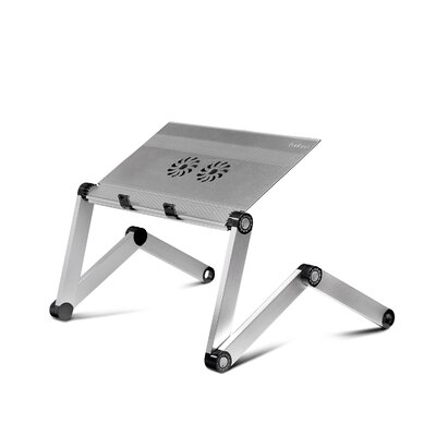 22.1 H x 22.1 W Standing Desk Conversion Unit Color: Silver