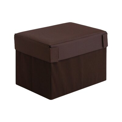Oxford Multipurpose Foldable Storage Ottoman Upholstery: Espresso