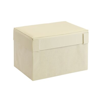 Oxford Multipurpose Foldable Storage Ottoman Upholstery: Ivory