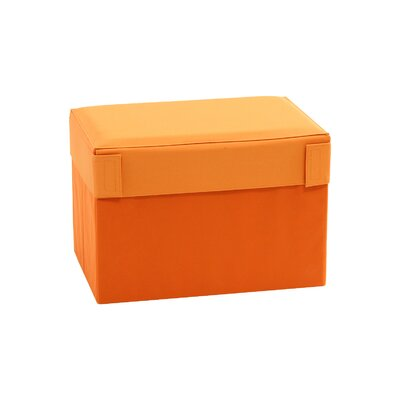 Oxford Multipurpose Foldable Storage Ottoman Upholstery: Orange