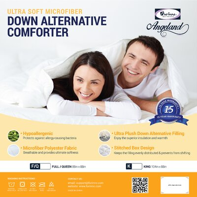 Angeland All Season Goose Down Alternative Comforter Size: King