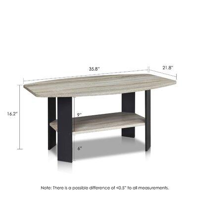 Latasha Simple Coffee Table Color: French Oak Grey/Black
