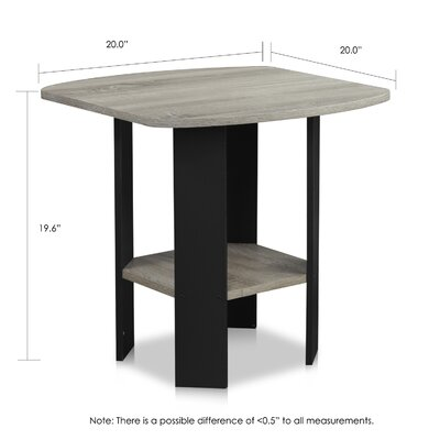 Latasha Simple End Table Color: French Oak Grey/Black