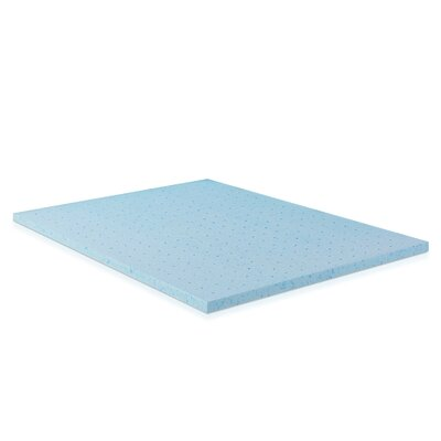2 Gel Infused Foam Mattress Topper Size: King