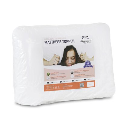 Angeland Ultra Soft Microplush Mattress Topper Size: King
