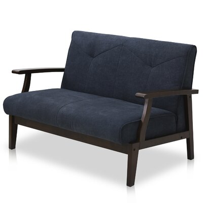 Loveseat Upholstery: Dark Blue