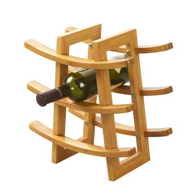 DaPur Bamboo 9-Bottle Tabletop Wine Rack