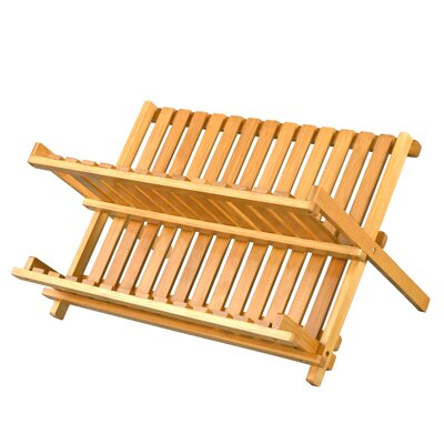 DaPur Bamboo Collapsible Dish Rack