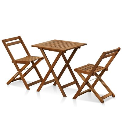 Juna Hardwood 3 Piece Bistro Set