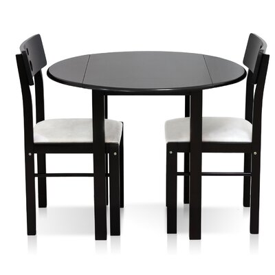 Cos-Drop Leaf Solid Wood 3 Piece Dining Set