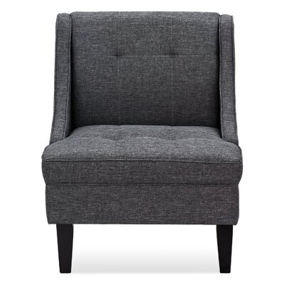 Janiyah Slipper Chair Upholstery: Dark Gray
