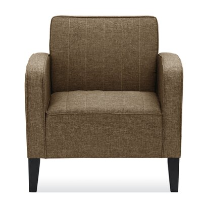 Janiyah Arm Chair Upholstery: Brown