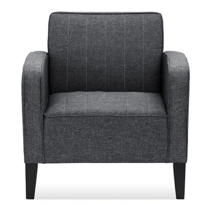 Janiyah Classic Upholstered Arm Chair Upholstery: Dark Gray