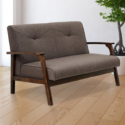 Rockingham Mid Century Vintage Modular Loveseat Upholstery: Dark Brown