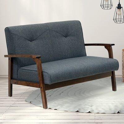 Rockingham Mid Century Vintage Modular Loveseat Upholstery: Dark Gray