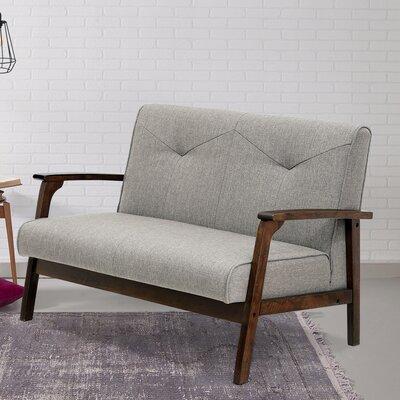 Rockingham Mid Century Vintage Modular Loveseat Upholstery: Light Gray