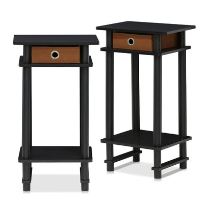 Chrisley End Table with Bin Set Of: Set of 2