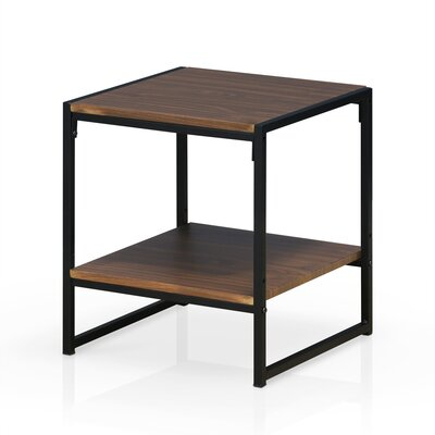 Andresen Modern 2-Tier End Table Color: Dark Walnut