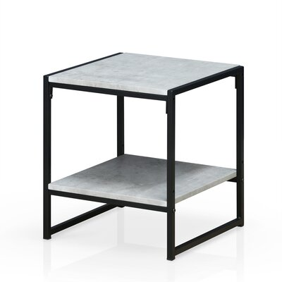 Andresen Modern 2-Tier End Table Color: Stone